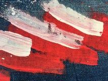 Denim, fond de texture de jeans Texture abstraite de peinture à l'huile sur la toile Baisses de peinture colorée sur le denim ble photos stock