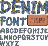 Denim font Stock Photography