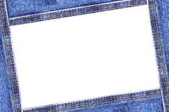 Denim frame Stock Image