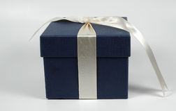 Denim Giftbox Royalty Free Stock Photos