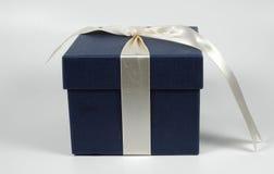 Denim Giftbox Royalty-vrije Stock Foto's