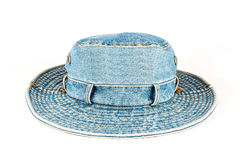Denim hat isolated Royalty Free Stock Images
