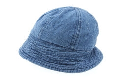 Denim hat on white Royalty Free Stock Photos