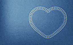 Denim heart Stock Images