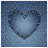 Denim heart Stock Image