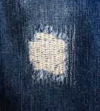 Denim Hole Patch Royalty Free Stock Images