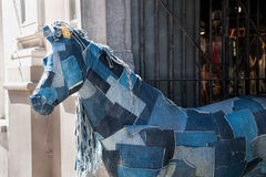 Denim Horse Royalty Free Stock Photos