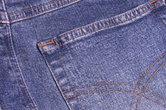 Denim II. Close-up of trousers Stock Photos