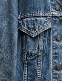 Denim jacket detail Royalty Free Stock Image
