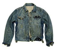 Denim jacket unbuttoned Royalty Free Stock Images