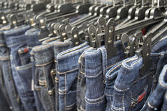 Denim jeans Stock Images