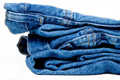 Denim Jeans. The always fashionable and stylish blue denim jeans stock images