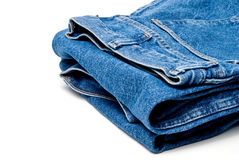 Denim Jeans. The always fashionable and stylish blue denim jeans royalty free stock images