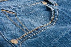 Denim jeans. Closeup of blue denim jeans stock photos