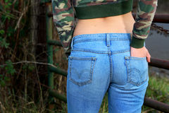 Denim jeans Royalty Free Stock Photography