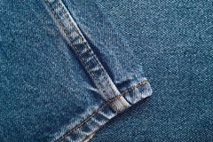 Denim jeans background set of different selections Stock Images