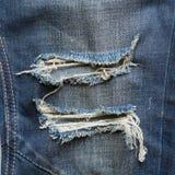 Denim jeans blue old torn Royalty Free Stock Image