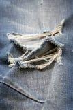 Denim jeans blue old torn Stock Image