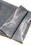 Denim jeans broken fabric texture Royalty Free Stock Photo