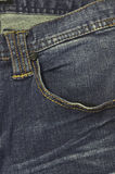 Denim jeans close up. Denim jeans pocket close up Royalty Free Stock Photo
