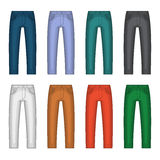 Denim Jeans Different Colors Set. Vector Royalty Free Stock Photo