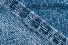 Denim jeans fabric texture background with old jeans Royalty Free Stock Photos