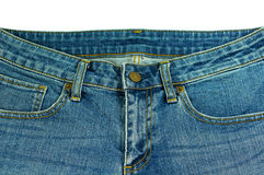 Denim jeans isolated on white Royalty Free Stock Images