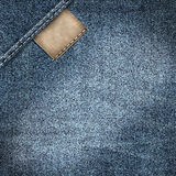 Denim jeans label background Stock Images