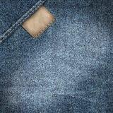 Denim jeans label background Stock Images