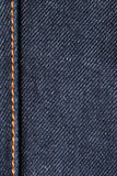 Denim jeans macro. Blue cotton jeans  fabric detail Royalty Free Stock Photo