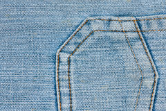Denim Jeans Pocket Royalty Free Stock Photo