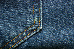 Denim Jeans Pocket Detail stock photography