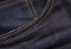 Denim Jeans pocket texture background Royalty Free Stock Photography