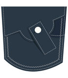 Denim Jeans Pocket Stock Photography