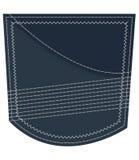 Denim Jeans Pocket Stock Photo