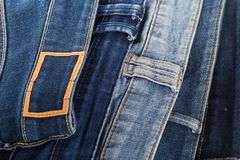 Denim. jeans texture. Jeans background royalty free stock image