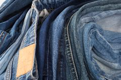 Denim. jeans texture. Jeans background royalty free stock images