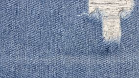 Denim jeans texture or denim jeans background for clothing, fashion and industrial construction concept design.  Royalty Free Stock Photos
