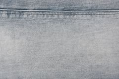 Grey / blue denim jeans with stripes texture background. Denim jeans texture / pattern background. Close up from pants royalty free stock images