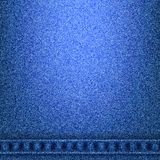 Denim jeans texture with seams in the bottom. Denim jeans texture and seams without strings in the bottom. Vector illustration Royalty Free Stock Photography