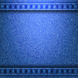 Denim jeans texture with seams. Denim jeans texture and seams without strings in the top and in the bottom of vector illustration Royalty Free Stock Photography