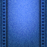 Denim jeans texture with seams. Denim jeans texture and seams without strings. Vector illustration Royalty Free Stock Photo