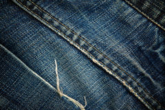 Denim jeans trousers pocket Royalty Free Stock Photos