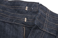 Denim Jeans Unbuttoned Stock Photos