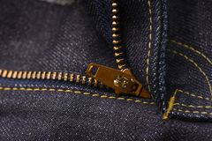 Denim Jeans zipper texture background Stock Photos