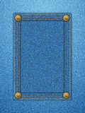 Denim label background vertical Royalty Free Stock Photos