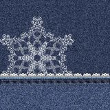 Denim lace snowflake Stock Photo