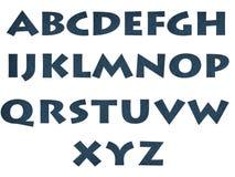 Denim letter. The English alphabet. Denim letter Stock Image