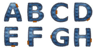 Denim letters Royalty Free Stock Image
