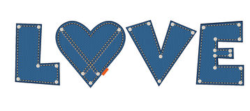 Denim love Stock Photography